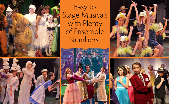 Our musicals are easy to stage