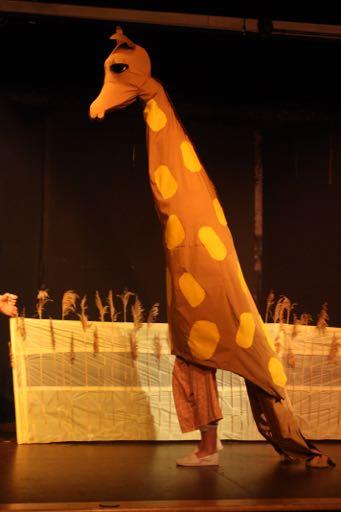 Finished giraffe mask and costume