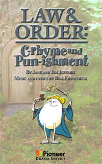 Cover for Law and Order: C‑rhyme and Pun‑ishment